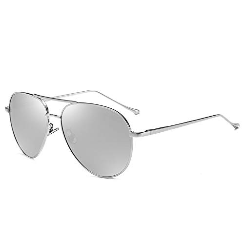 Wayland aviator Polarized Sunglasses For Men And Women ,100% UV Protection (Silver) (Aviator Brille Rx)