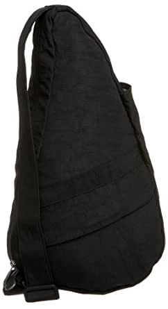 AmeriBag Classic Distressed Nylon Healthy Back Bag tote X-Small,Black,one size