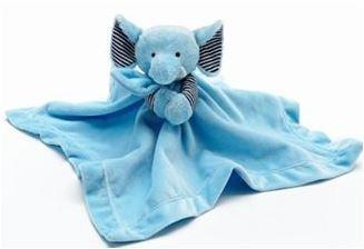Amazon Com Carter S Snuggle Buddy Security Blanket Plush Elephant