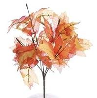 Package of 6 Warm Autumn Color Silk Maple Leaf Sprays