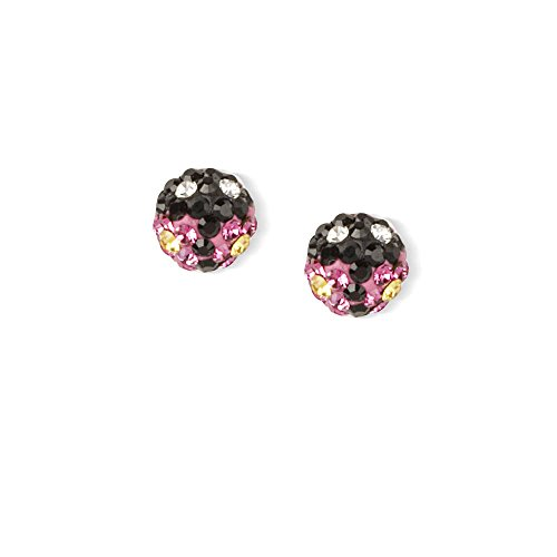 Claire's Girl's Sterling Silver Crystal Ladybug Stud Earrings - Claire Ladybug