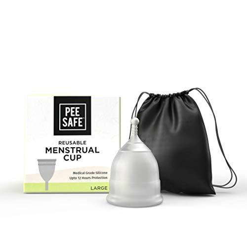 LD Pee Safe Reusable Menstrual Cup for Women Made with Medical Grade Silicone