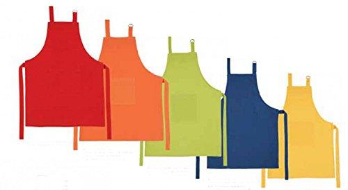 Kinderschürze Kochschürze Kinder verschiedene Farben, Farbe:Orange
