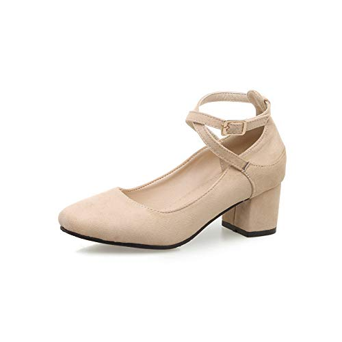 Casual APL10610 apricot Pumps Womens Structured Urethane Solid Shoes BalaMasa HxwnTzAp5p