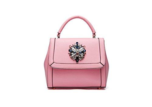 QCKJ-Lorenz-Borsa a tracolla da donna in massello, piccolo, colore: rosa