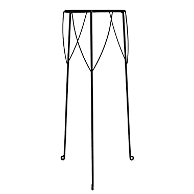 GCD-Austram Nelumbo/Lotus Planter Stand, 10-1/4 by 28-Inch, Leather Black
