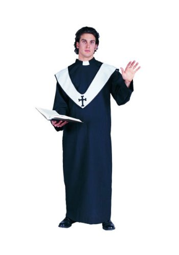 RG Costumes Men's Deluxe Priest, Black, One