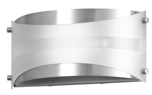 Wall Scone Lamp (Acciaio Wall Sconce One-Light Lamp Brushed Nickel with White Diffuser - Linea di Liara LL-SC6-BN)