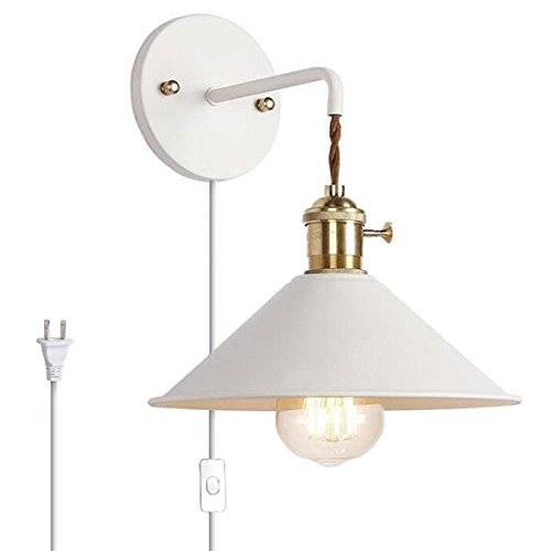 Kiven Nordic Wall Sconce With Cable Mains Plug And On Off