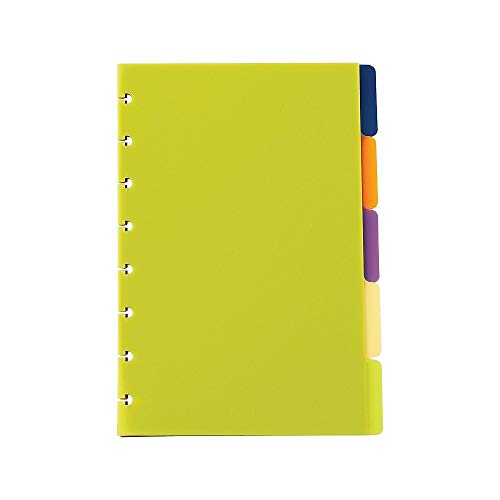 Staples? Arc Notebook Poly Index Dividers, Junior-sized, Assorted Colors, Set of 5 (Staples Poly Notebook)