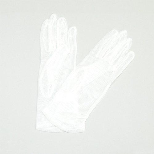 サラサラ涼しい シルクメッシュ手袋 (ホワイト)