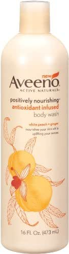 Body Washes & Gels: Aveeno Positively Nourishing Antioxidant Infused Body Wash