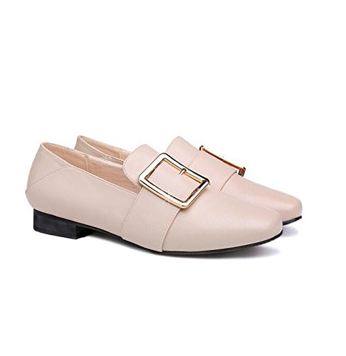 KHSKX-2 Cm Beige Oxford Shoes Flat Bottom Single Shoes England The Small Leather Shoes Leather Shoes With Deep Autumn Girl Round Head 37 a9hVE8x