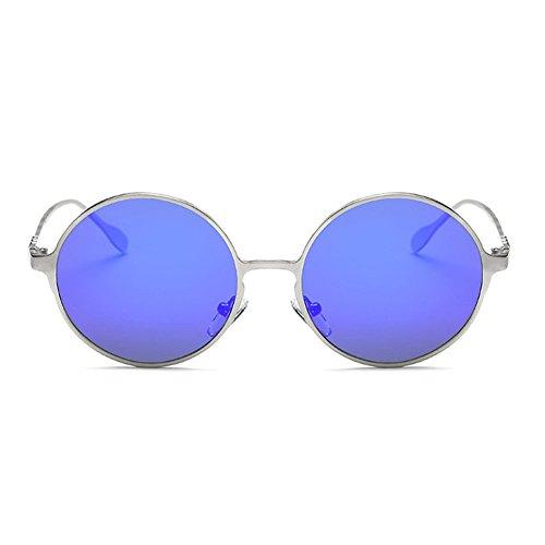 [Blue Sunshine Unisex Retro Metal Colorful Round Polarized Sunglasses(K3)] (Morpheus Costumes Sunglasses)