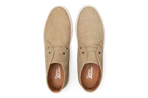 Dunross & Sons Theo Men's Fashion Sneaker. Lightweight Breathable Casual Mid Top Chukka Crafted with Genuine Leather.