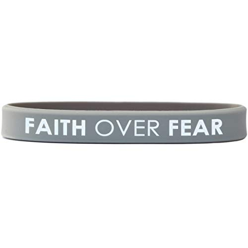 SayitBands 1 Faith Over Fear Inspirational Wristband -