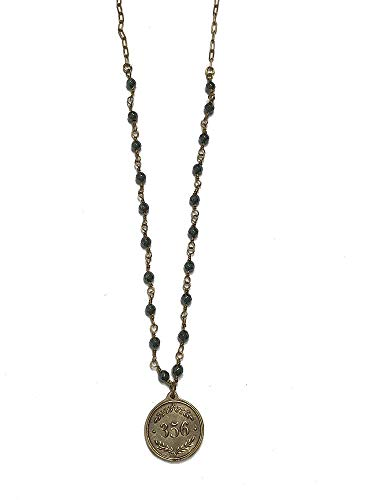 Madison Sterling 356 (Proverbs 3:5-6), Solid Bronze Medal with Beaded Gold Tone Necklace, App. 30