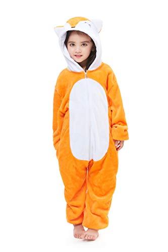 The Fox Halloween Costumes - Unisex Kids Pajamas Flannel Fox Animal