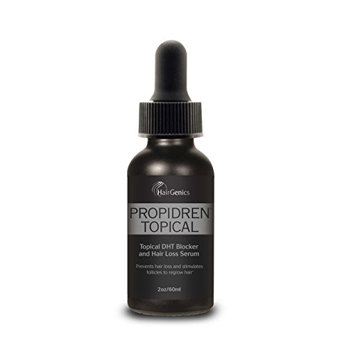 Propidren by Hairgenics Hair Growth Serum with Powerful DHT Blockers to Prevent Hair Loss, Stimulate Hair Follicles and Help Regrow Hair. 1 Month Supply, 2 FL OZ.