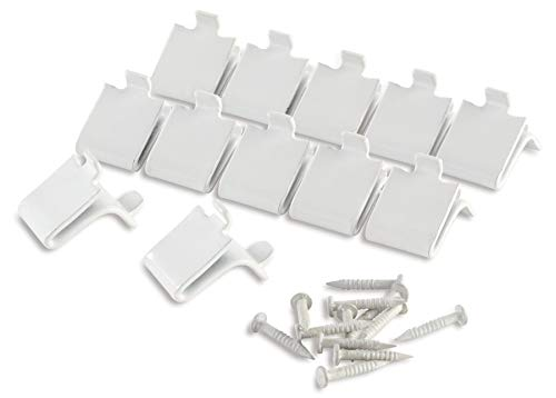 white metal clips Shelf Support (Set of 12) (Rubbermaid Back Clip)