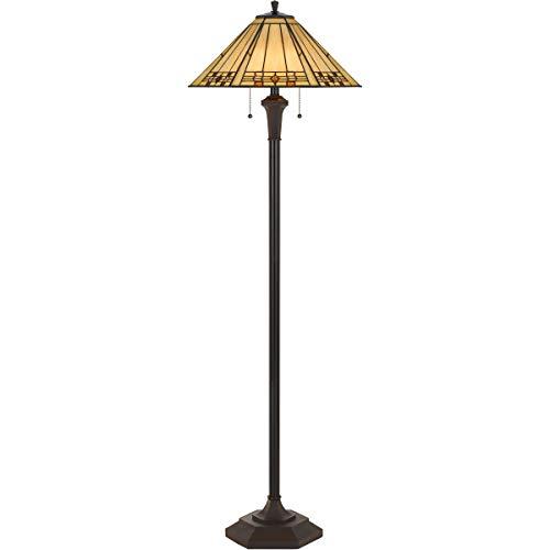 Floor Lamps 2 Light Fixture with Matt Black Finish Resin/Tif Material E26 18