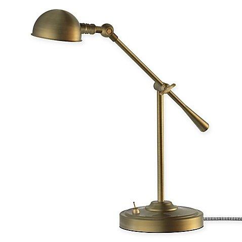 Antique Brass Pharmacy Desk Lamp - 1
