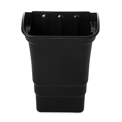 Rubbermaid Commercial Products FG335388BLA Refuse Bin, Utility Cart Accessories, 8 gal, Black