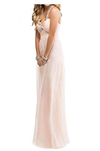 Toscana novia Dulcemente Imperio de la gasa vestidos de noche largo de dama de honor vestidos de noche de los vestidos de bola Perle Rosa