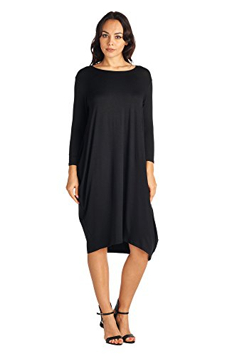 82 Days Womens Various Styles Comfortable Jersey Mid Long Dresses