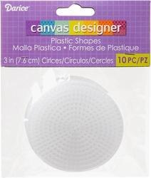 (Bulk Buy: Darice Plastic Canvas 7 Count 3 inch Circles 10/Pkg Clear 33005 (6-Pack))