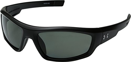 Under Armour Unisex UA Power Polarized Satin Black One - Polarized Sunglasses Armour Under Are