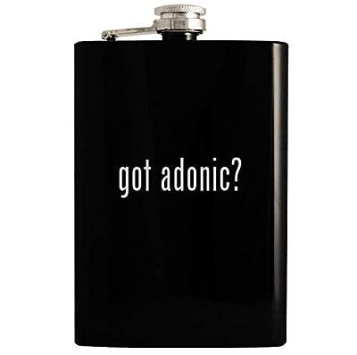got adonic? - 8oz Hip Drinking Alcohol Flask, Black