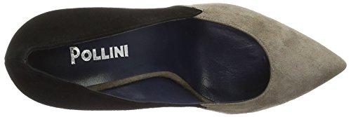 Pollini Shoes SA1009, Scarpe con Tacco Donna Beige (Beige/Black 20a)