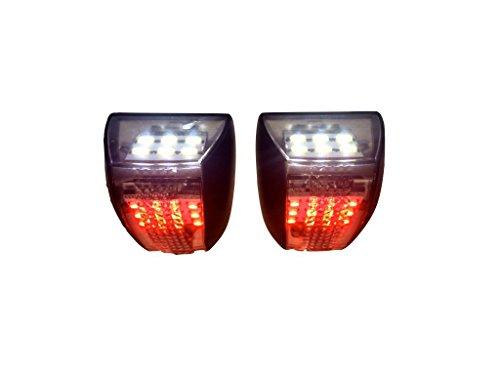 - Razer Auto White LED License Plate Illumination Kit includes Red LED Rear Facing Running Lights for Chevy Avalanche, Silverado, Tahoe, Suburban, GMC Sierra, Yukon, Yukon XL
