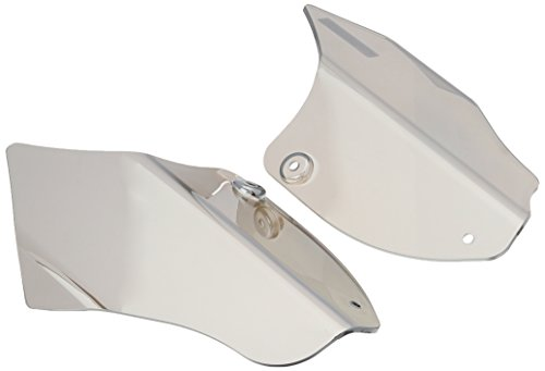 Kuryakyn 1186 Motorcycle Accessory: Heat Deflector Saddle Shields for 2000-17 Harley-Davidson Softail Motorcycles, Reflective Smoke, 1 Pair ()