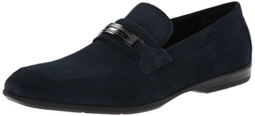 Calvin Klein Men's Vick Suede Slip-On Loafer, Navy, 9.5 M US