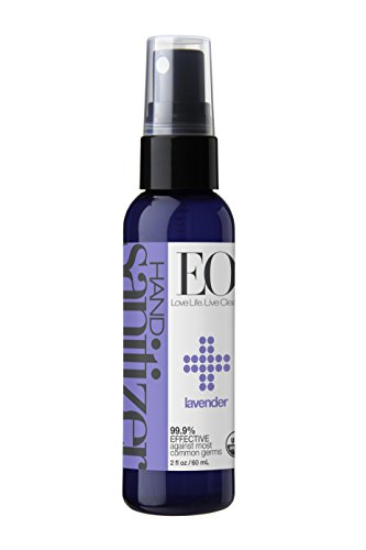 EO Hand Sanitizer Spray, Organic Lavender, 2 Ounce (Pack of 6)