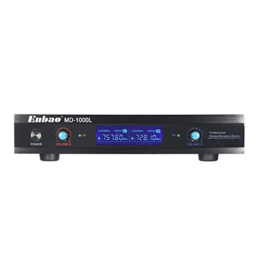 Walmeck Wireless Microphones System 2 Microphones 1 Receiver LCD Display for Karaoke Meeting Party by Walmeck (Image #6)