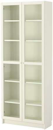 IKEA BILLY / OXBERG - Librero, blanco - 80x202x28 cm ...