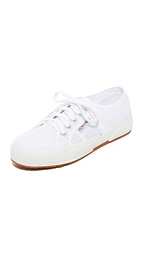 Superga Women's 2750 Mesh Cotu Sneakers, White, 9 B(M) US