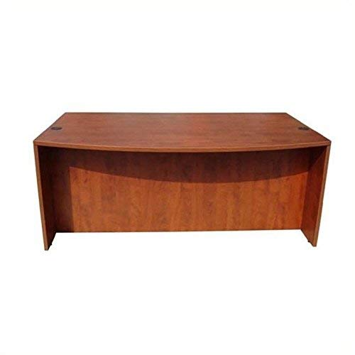 Boss Office Products N189-C Bow Front Desk Shell in Cherry