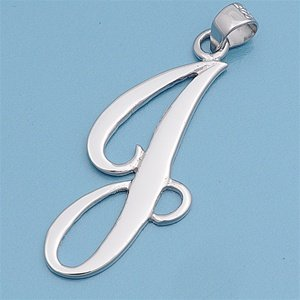 Sterling Classic Initial Pendant Available product image