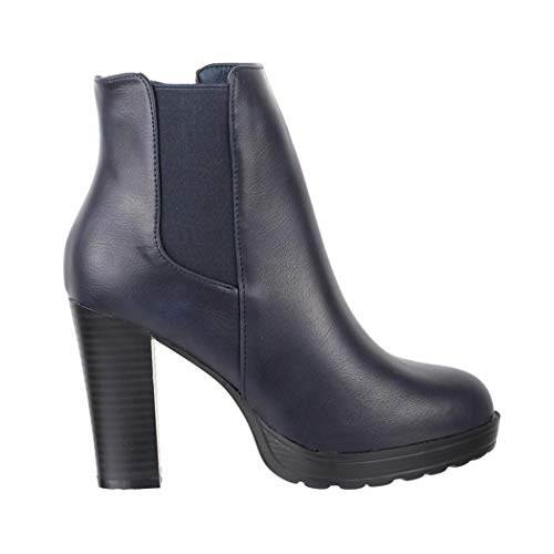 Elara blue Femme Bottines Ankle Tendance Chunkyrayan Boots Pour Dk ZHxZq6vwrC