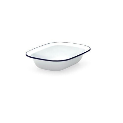 Falcon Enamel 22cm Oblong Pie Dish (Pack of 2) Kitchen Craft