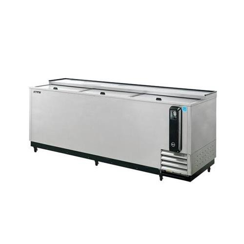 TBC95SD 32 cu. ft. Bottle Cooler with Forced Air Cooling System High Density PU Insulation PE Coated Dividers Efficient Refrigeration System and Stainless Steel Construction: Stainless Steel