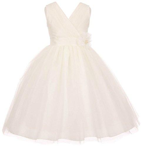 Ivory Silk Flower Girl Dress - 5