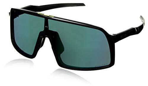 (Oakley Men's OO9406 Sutro Shield Sunglasses, Black Ink/Prizm Jade, 37 mm)