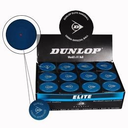 Dunlop Sports Squash Doubles Red Dot Hardball, Blue by Dunlop Sports