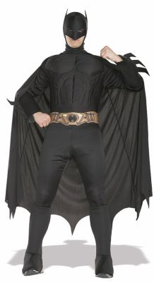 Tv Movie Themed Costumes (Rubie's Costume Deluxe Muscle Chest Batman Costume, Medium, Medium)