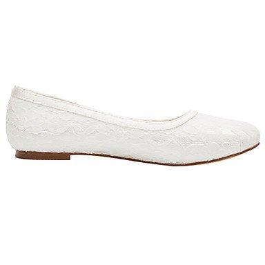 Cómodo y elegante soporte de zapatos de las mujeres pisos de primavera/verano otros Stretch satén boda/fiesta y tarde/vestido soporte de talón otros marfil otros beige